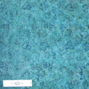 Patchwork Quilting Sewing Batik Fabric MIDNIGHT TEAL FLOWERS 50x55cm FQ New