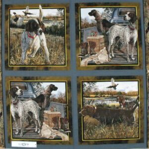 Patchwork Quilting Sewing Fabric DOG DAYS SET 4 Panel 90x110cm New