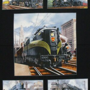 Patchwork Quilting Sewing Fabric VINTAGE TRAINS Panel 60x110cm New