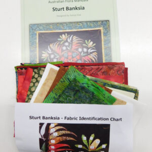 Quilting Sewing Australian Flora Mandala Quilt FABRIC KIT STURT BANKSIA New