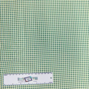 Patchwork Quilting Sewing Fabric MINI CHECK GINGHAM APPLE GREEN 50x55cmFQ New