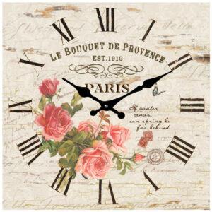French Country Chic Retro Inspired Wall Clock 15cm LA BOUTIQUE DE PROVENCE New