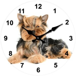 French Country Chic Retro Inspired Wall Clocks 17cm TERRIER DOG New Time