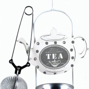 French Country Vintage Inspired Metal Tea Infuser with Tea Bag Holder/Drip tray New