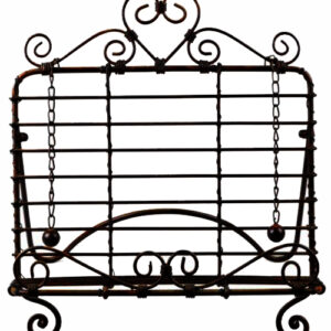French Country Vintage Kitchen BLACK HEART Recipe Book Holder Wrought Iron New