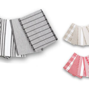 Bring a little retro-charm into your kitchen with these Milan Tea Towels. This cute set of check and stripe designs will take you back in time to the 1950s, when the smell of baked goods filled suburban streets. Milan Tea Towels are a stylish and practical accessory that are sure to cosy up your kitchen. Milan Tea Towels comes in sets of five, each towel having its unique print. These classic collections of striped and checked designs have a slightly washed-out look that gives them that retro-chic. Made from pure cotton, these towels are easy to clean and long lasting. Take us back to the good old days with these Milan Tea Towels. Features: - Size: 50 cm x 70 cm - Retro design for a classic kitchen look - 100% cotton keeps your kitchenware lint and streak free - Made on a hand loom for extra strength, softness and absorbency - Washes easily in the machine and releases stains Care Instructions: - MACHINE WASH IN COLD WATER WITH LIKE COLOURS, OR HAND WASH SEPARATELY - DO NOT BLEACH - DRY FLAT - DO NOT TUMBLE DRY - WARM IRON - DO NOT DRY CLEAN BUY NOW