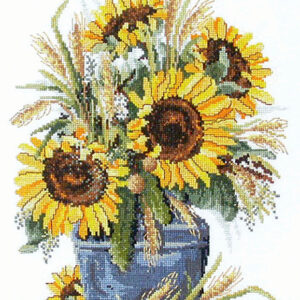 Country Threads Cross Stitch Counted X Stitch Pattern Graph SUNFLOWER HARVEST New (CT)