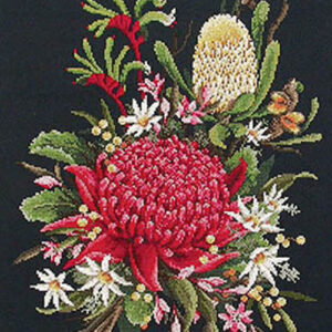 Country Threads Cross Stitch Counted X Stitch Pattern Graph AUSTRALIAN WILDFLOWERS New (CT)