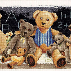 Country Threads Cross Stitch Counted X Stitch Pattern Graph CLASSROOM TEDDIES New (CT)