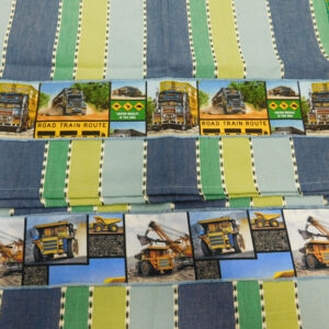 Country Style New Tea Towels Set of 2 ROAD TRAIN MINING TRUCKS Handmade Teatowels NEW