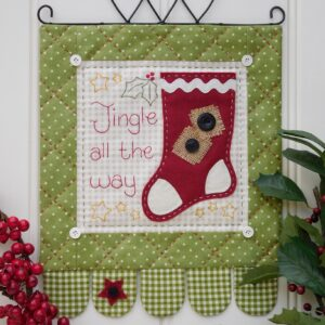 Quilting Sewing Wall Hanging Pattern JINGLE ALL THE WAY Sally Giblin Rivendale Collection NEW