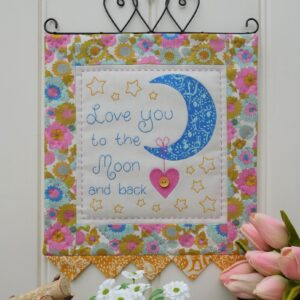 Quilting Sewing Wall Hanging Pattern MOON AND BACK Sally Giblin Rivendale Collection NEW