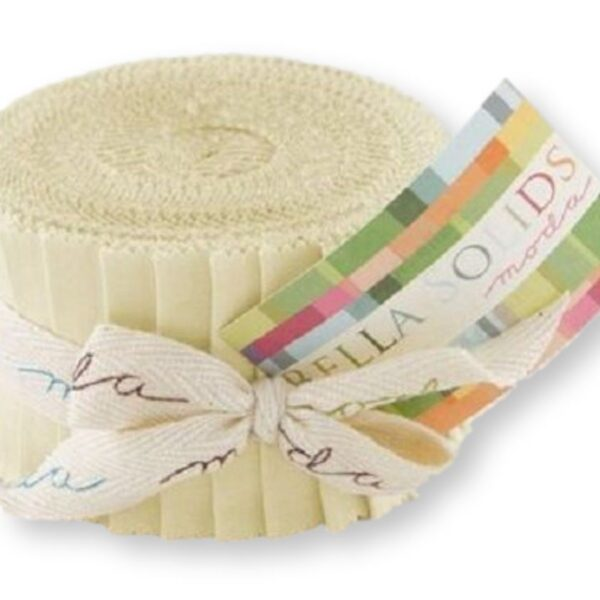 Quilting Jelly Roll Sewing Patchwork MODA BELLA SNOW CREAM 2.5 Inch Strips Fabrics New