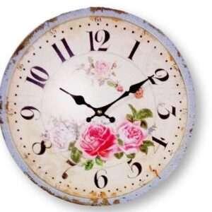 French Country Chic Vintage Inspired Wall Clocks 58CM THREE ROSES New