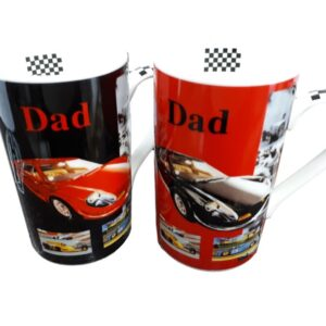 French Country Chic Kitchen Coffee Mug Dad Black or Red Car China New Freepost