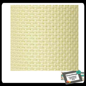 Cross Stitch ECRU CREAM Aida Cloth 14ct Quality Size 55x30cm NEW X Stitch Fabric