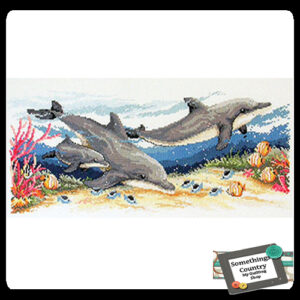 Country Threads Cross Stitch Counted X Stitch Pattern Graph DOLPHINS New (CT)