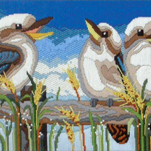 Country Threads Long Stitch Kit Kookaburra Line Up Australian Birds New FLS1012
