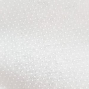 Patchwork Quilting Sewing Fabric White on White Micro Dots 50x55cm FQ New