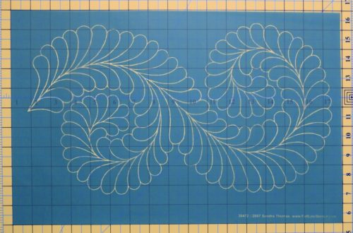 Quilting Full Line Stencil Interlocking Fancy Feather Reusable for Quilts use Pounce A3 New