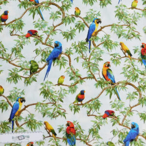Patchwork Quilting Sewing Fabric Birds and Parrots 50x55cm FQ New Material