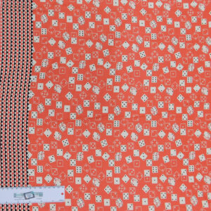 Patchwork Quilting Sewing Fabric Dice Games Peach 50x55cm FQ New Material