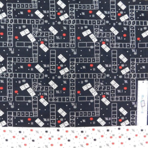 Patchwork Quilting Sewing Fabric Domino Black 50x55cm FQ New Material