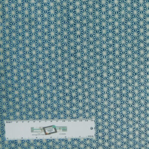 Patchwork Quilting Sewing Fabric Blue Silver Metallic 50x55cm FQ New Material