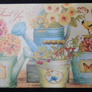 Country Styled Greeting Card Thank You Specialized Card with Envelope New
