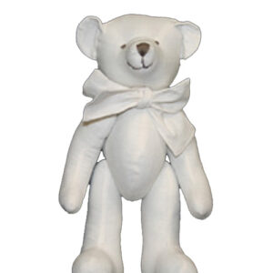 Small Stuffed Teddy Bear Signature Bear White Linen 27cm Jointed New Freepost
