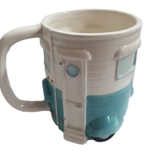 French Country Kitchen Coffee Mugs Caravan Blue & White Novelty Cup New