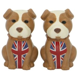 French Country Collectable Novelty English Bulldog Salt and Pepper Set New