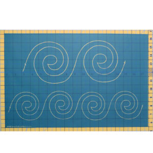 Quilting Full Line Stencil Spiral Border Reusable for Quilts use Pounce A3 New