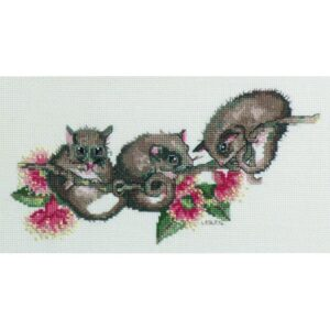 DMC Australian Collection Cross Stitch Kit inc Threads Possums New 582102 LS Davies
