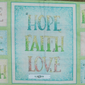 Patchwork Quilting Sewing Fabric Sweet Thoughts Hope Love Panel 60x110cm New
