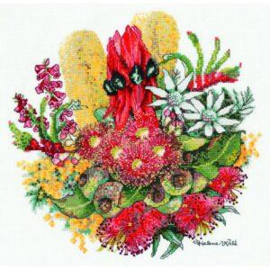 DMC Australian Collection Cross Stitch Kit inc Threads Wildflower Bouquet New HW001