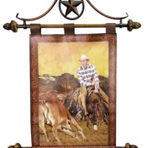 French Country Inspired Wall Art Wrought Iron Hanger Rodeo Cutting Vinyl Sign New