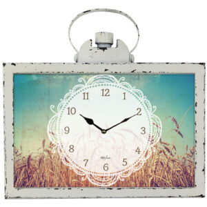 Clock French Country Vintage Inspired Wall Clocks 30cm White Wheat Rustic New