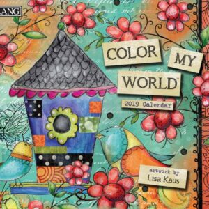 2019 Lang Calendar COLOR MY WORLD New Calender Fits Wall Frame Free Postage