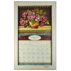 2020 Lang Legacy Calendar Frame Wooden Whitewash Eggshell Display Calender New