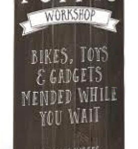 French Country Vintage Inspired POPPY'S WORKSHOP Large Sign Fathers Day New