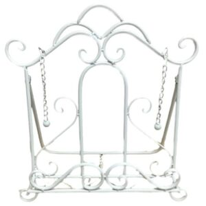 French Country Vintage Kitchen White Recipe Book Holder Wrought Iron New