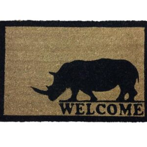 French Country New Front Door Floor Mat Rectangle Coir Rhino Floormat Rubber Backed