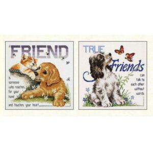 Country Threads Cross Stitch BEST FRIENDS Pattern New X Stitch FJP-107-08 (CT)