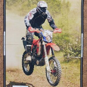 Patchwork Quilting Sewing Fabric Dirt Bikes Jumping Panel 90x110cm New Material