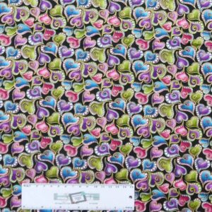 Patchwork Quilting Sewing Fabric Back Catitude Hearts 50x55cm FQ New Material
