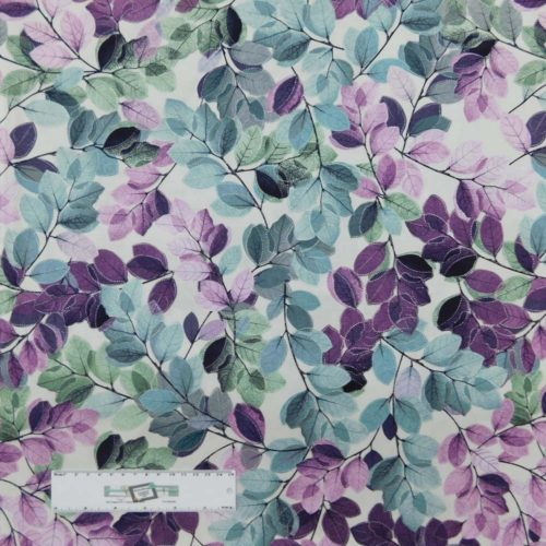Patchwork Quilting Sewing Fabric Mauve Tree Leaves 50x55cm FQ New Material