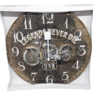 Clock Country Vintage Inspired Wall Clocks 58CM LEGENDS NEVER DIE New