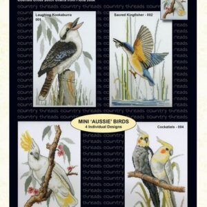 Country Threads Cross Stitch MINI AUSSIE BIRDS Pattern New X Stitch FJP-001-004 (CT)