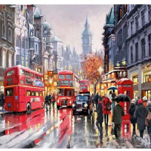5D Diamond Painting Square Drills London Bus incl Canvas, Beads and Applicator Set New